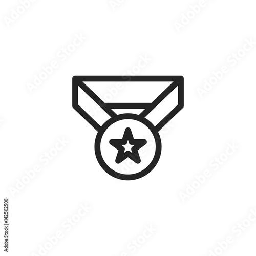 Medal vector icon, first place symbol  Modern, simple flat