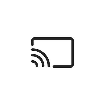 screen cast vector icon, chromecast symbol. Modern, simple flat vector illustration for web site or mobile app