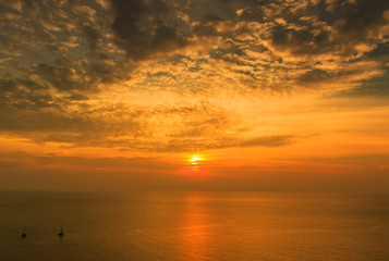 Sunset at the sea, South of Thailand