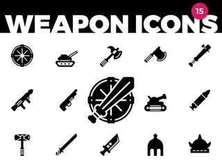 Weapons Icons (Solid) 1 of 4