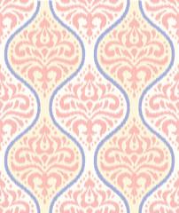 Ikat damask seamless pattern.
