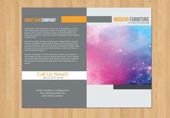 Gray and Orange Bifold Brochure Layout 1