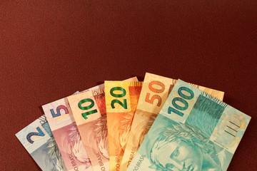 Brazilian Money Brown Background
