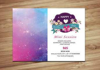 Photography Studio Mother's Day Special Flyer Layout 1