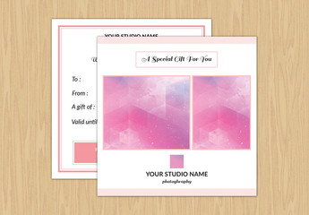Photography Services Gift Card Layout 1