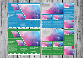 Business Brochure Layout with Wavy Bottom Border 1