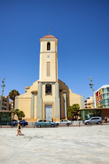 Guardamar del Segura, Spain - June 26, 2016: St. James the Apostle Parish Church.