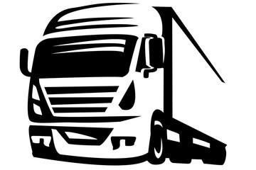 Black and white truck logo