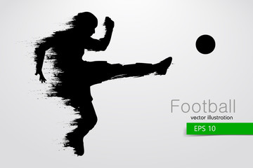 silhouette of a football player. Vector illustration
