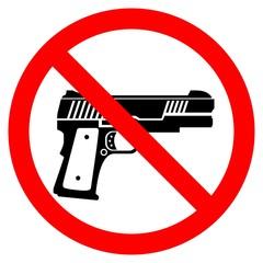 No Guns. Icon. Sign. Symbol. Prohibition