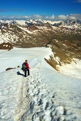 Way Down from Similaun Peak, Ötztal Alps, Austria