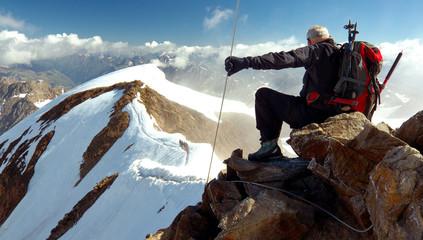 View from Wildspitze Peak, Ötztal Alps, Austria