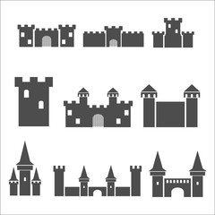 Castle icon set.