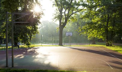Basketball court in Jordan Park in Krakow, Poland