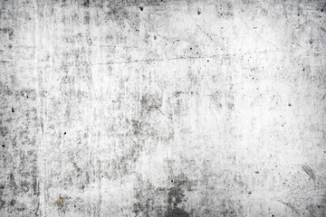 Poster Retro Texture of old white concrete wall for background