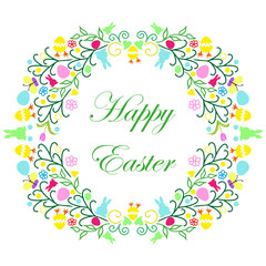 Easter wreath with text