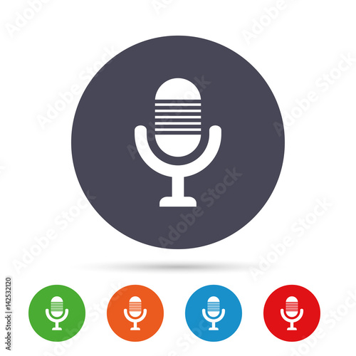 Microphone Icon Speaker Symbol Live Music Sign