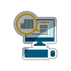 Website internet page icon vector illustration graphic design