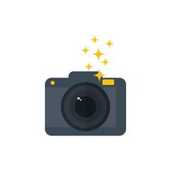 Photographic camera isolated icon vector illustration graphic design