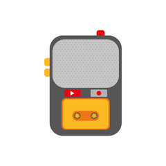 Tape recorder isolated icon vector illustration graphic design