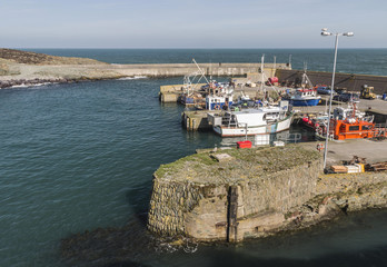 Upper harbour at Amlwch Port on Anglesey, Wales, Great Britain in early Spring.