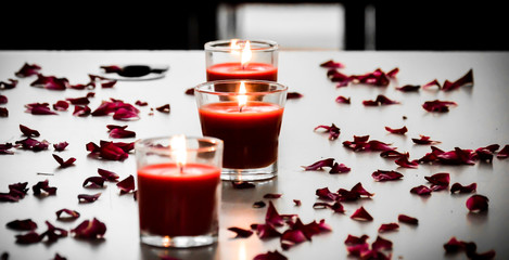 Candles Lights and Rose Petals