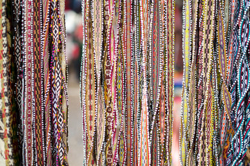 Handmade bracelets at the market