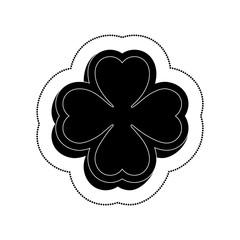 clover saint patrick celebration vector illustration design