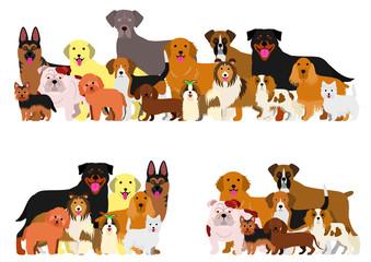 dogs group border set