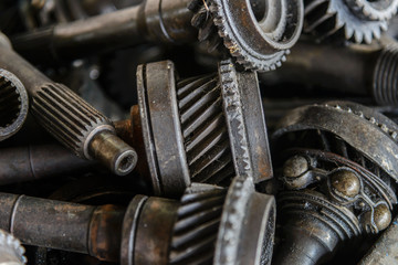 Old gears, plant machinery and equipment