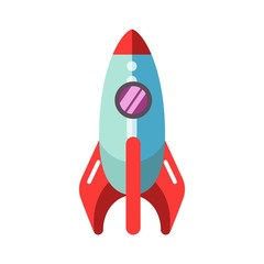 Kid toy children plaything rocket spaceship vector icon