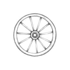Einfaches Wagenrad