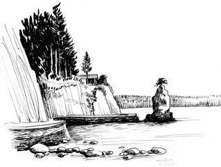 Stanley Park sketch in Vancouver British Columbia
