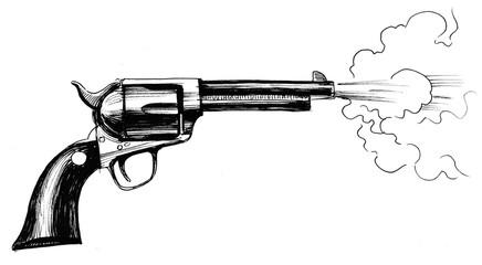 Shooting revolver gun