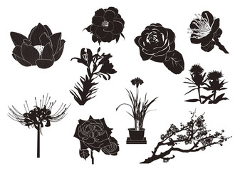 花シルエット