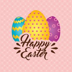 easter egg paint icon vector illustration design