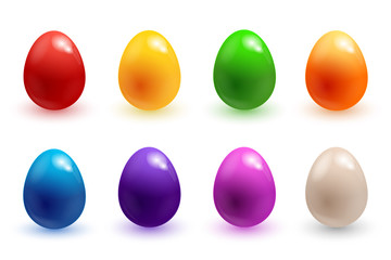 Easter eggs 3d icons