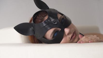 mask women bdsm cat animal