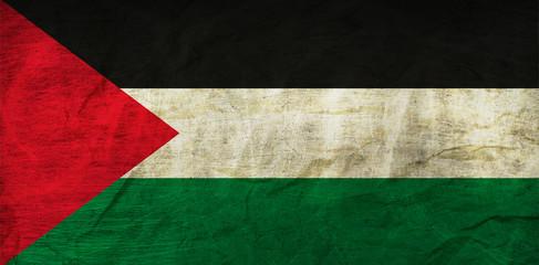 Palestine Flag on Paper
