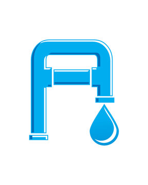 A Plumbing and sewer logo