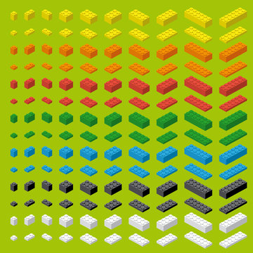 Children brick toy simple colorful bricks