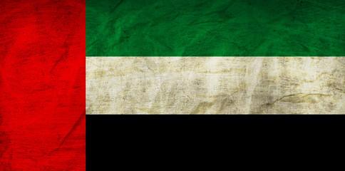 United Arab Emirates Flag on Paper