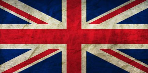 United Kindgom Flag on Paper