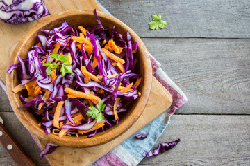 Red Cabbage Coleslaw Salad