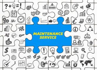 Maintenance Service / Puzzle mit Symbole