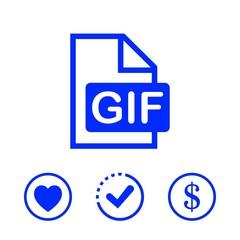 gif icon stock vector illustration flat design
