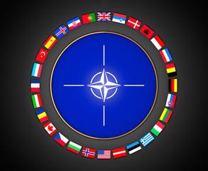 NATO sign 3d