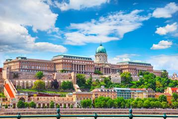 Keuken foto achterwand Boedapest Buda Castle Royal Palace on Hill Hungary Budapest Europe