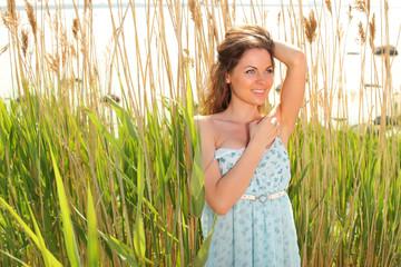 Summer portrait girl in a dress