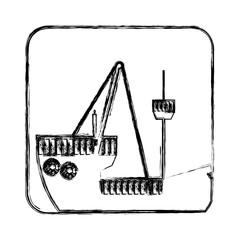 figure picture ship maritime transpotation, vector illustration design